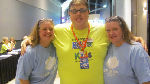My sister and I posing with Crisco-Executive Producer of the KS95 Radio Show with Moon and Staci