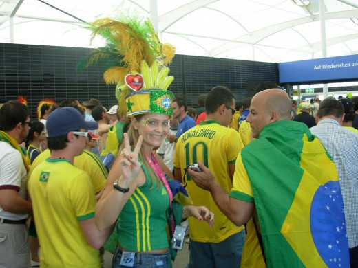 Brazil supporters during the FIFA World Cup 2006 in Germany.