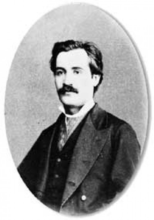 Portrait of Mihai Eminescu (1850 - 1889) - photograph by Franz Duschek, Bucharest, 1880