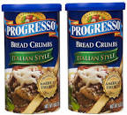Any dry bread crumbs will work, however my favorite is the Progresso Italian style breadcrumbs.
