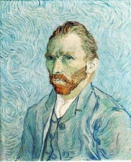 Van Gogh self portrait 'vincent in flames' from samuel johnstone flickr.com