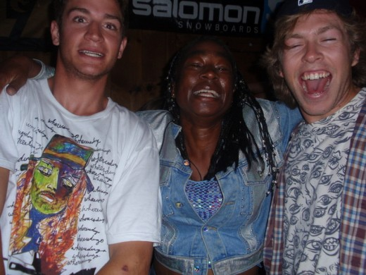 The picture I sent with my post. I am between Scotty Lago and Kevin Pearce. This picture was taken at High Cascade summer of 2008.