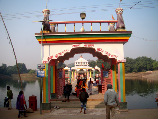 The gate of the temple of Lakshmi-Narayana