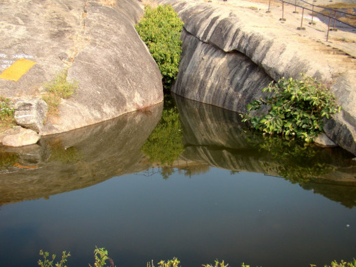 One of the Kund-s or small ponds created by Gupt Godavari