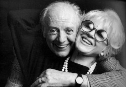 Dario Fo and his wife Franca Rame.