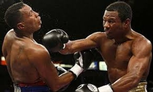 Sugar Shane Mosley, seen here knocking out Ricardo Mayorga, won championships in three weight divisions.