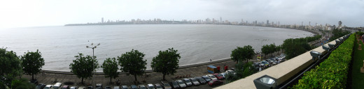 The panoramic view from the Backbay.