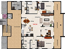3,116 sq. ft. 2 Beds 2.5 Baths
