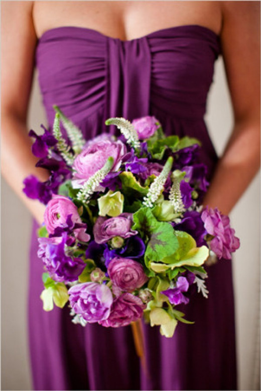 Radiant Orchid would look lovely for a 2014 wedding