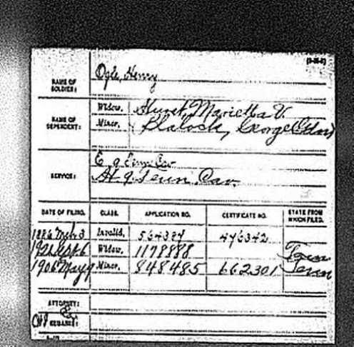 Civil War Pension Record of my 3rd Great-grandfather for the Union Army. Henry was from Sevier C., TN
