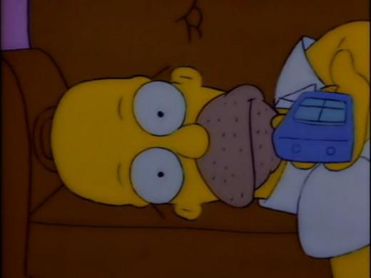 Homer's depression engulfs his entirety