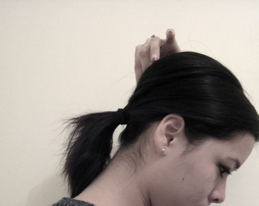 Tighten your hair and check your bump as you go!