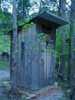 the original outhouse