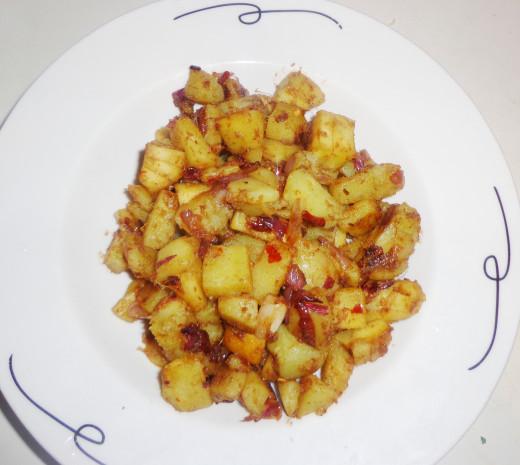 Tasty Spicy Sweet potato cubes
