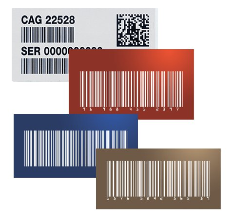Barcodes and UID Plates