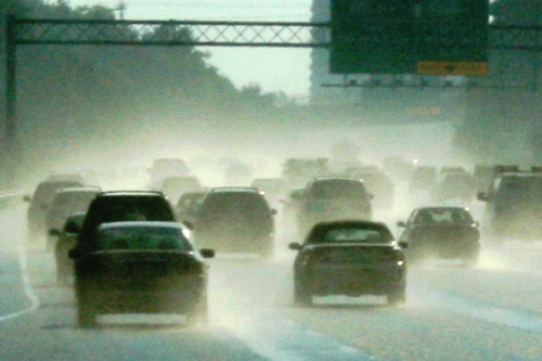 Are your head lights and tail lights turned on in rain, snow or fog?