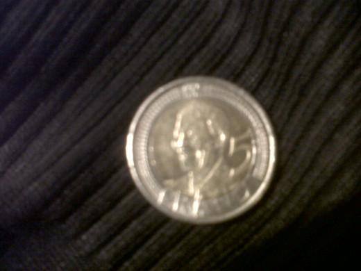 Mandela R5 coin
