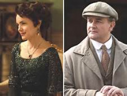 Lady Cora and Sir Robert Crawley, The Earl and Countess of Grantham.  (Elizabeth McGovern and Hugh Bonneville)