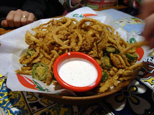 crispy onion & jalapeño stack