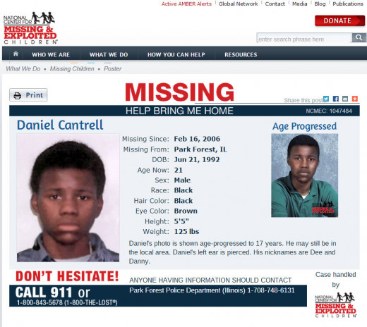 Daniel Cantrell missing since 2 16 2006