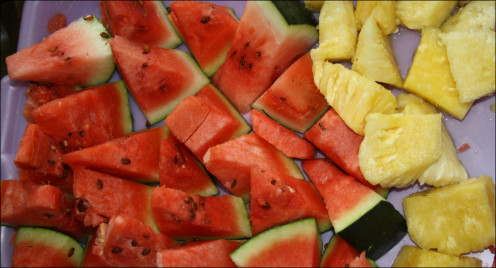 Fruits are perfect the morning after