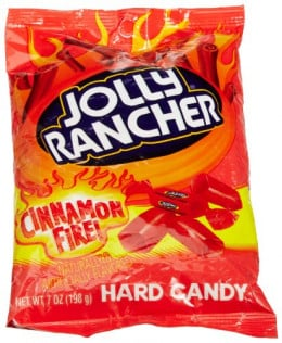 Features: Case of 12 7-ounce packages (84 ounces total) Hard candy pieces bursting with long-lasting hot cinnamon flavor Fat free; cholesterol free Individually wrapped pieces for convenience and freshness Made by The Hershey Company