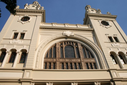 The facade of the South African Jewish Museum. The foundation stone was laid in 1904. It now houses the Holocaust Centre