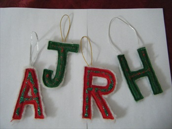 Our Letter Christmas ornaments