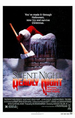 """The iconic poster for """"Silent Night, Deadly Night"""" (1984)"""