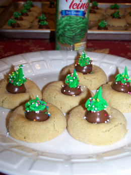Christmas Tree Cookies from Hershey's candy