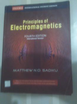 A book on Electromagnetics by Mathew N. O. Sadiku