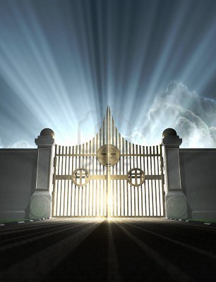 a depiction of the pearly gates of heaven from tina wesir flickr.com
