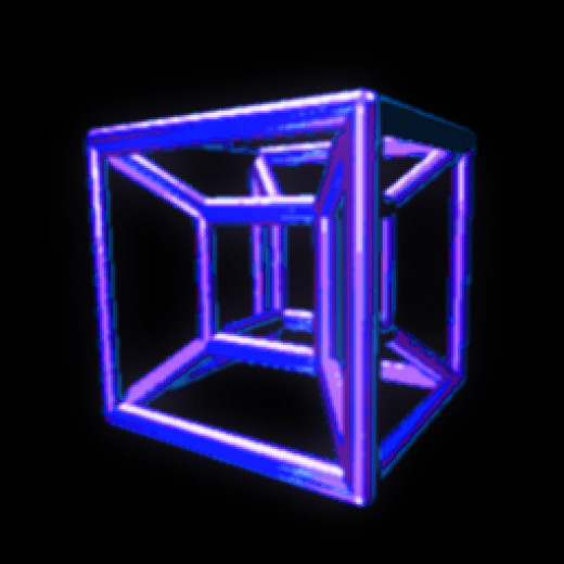 The tesseract is supposed to be the 'four-dimensional analogue of a cube'. Really? Cause this image looks rather 3D to me, not 4D.