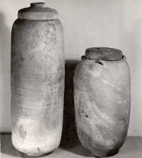 These jars or containers held the original scrolls found in Cave 1.