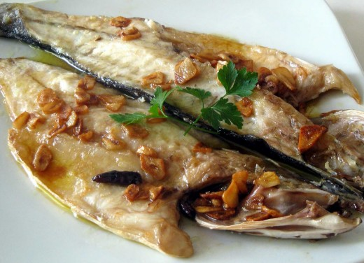 Grilled cantabric sea-bass