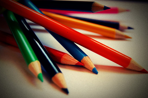 How to teach colors using pencils