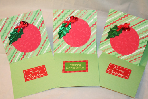 Set of six Christmas cards.