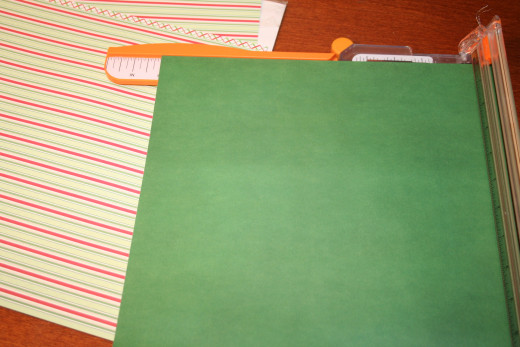 "Set your paper trimmer to 10"" and cut on two sides."