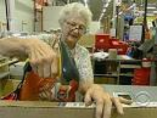 Seniors forced to work, just to survive.