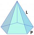 Volume & Surface Area of a Regular Pentagonal Pyramid