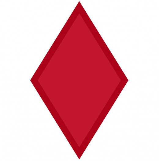 "US Army 5th Infantry Division shoulder sleeve insignia. The ""Red Diamond"" Division."