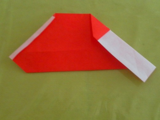 Fold the right edge down as shown.