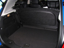 Encore's rear storage area features a stowable vanity cover to block valuables from view
