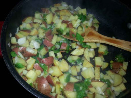 Lankford Grocery Texas Chicken Hash. Cooking the Hash