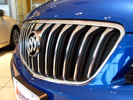 """Buick's signature """"waterfall"""" grill marks a distinctive luxury touch to Encore's profile"""