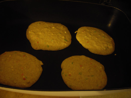 Add batter to a pan or griddle