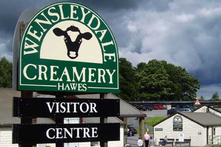 The Hawes Creamery on the road out to Gayle (see the town plan below)