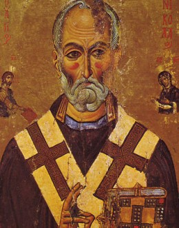 The first St. Nicholas who helped the poor.