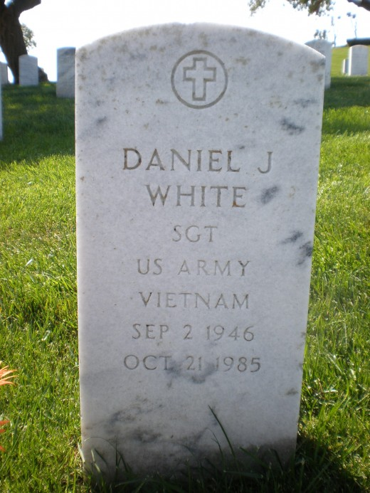 Gravestone of Daniel J White