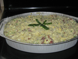 Finished Potato Salad for a Christmas Party